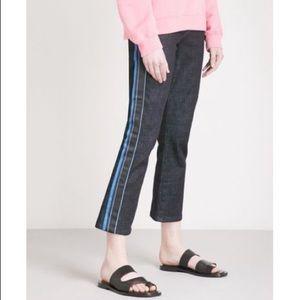 Victoria Beckham Sidestripe Kickflare Midrise Jean